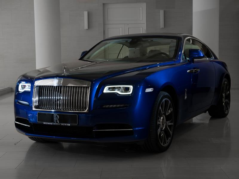 Rolls-Royce Wraith  <br>Crystal over Salamanca Blue